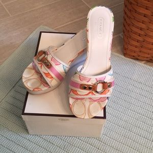 Coach Fionah Wedge Patchwork Sandal, 8.5M